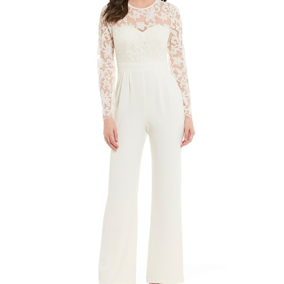 318aae18b4e Eliza J Embroidered Top Jumpsuit. Listing Price   135